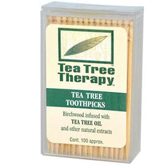 Tea Tree Therapy Toothpicks - 100 Toothpicks - Case of 12