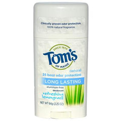 Tom's of Maine Natural Long-Lasting Deodorant Stick Lemongrass - 2.25 oz - Case of 6