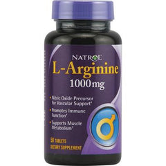 Natrol L-Arginine - 1000 mg - 50 Tablets