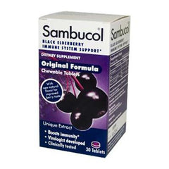 Sambucol Black Elderberry Immune System Support - Original Formula - 30 Chewable Tablets