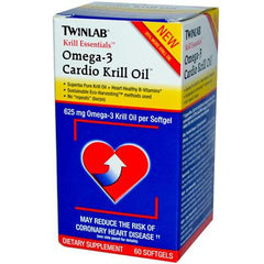 Twinlab Krill Essentials Omega 3 Cardio Krill Oil - 625 mg - 60 Softgels