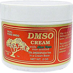 DMSO Cream with Aloe Vera Rose Scented - 2 oz
