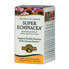 Herb Pharm Super Echinacea Herbal Juice Extract - 350 mg - 60 Vegetarian Capsules