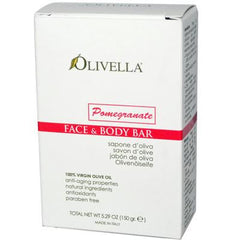 Olivella Face and Body Bar Soap Pomegranate - 5.29 oz