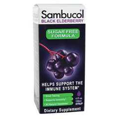 Sambucol Black Elderberry Syrup - Sugar Free - 4 oz