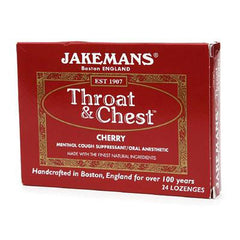 Jakemans Jakemans - Throat and Chest - Cherry - 24 Lozenges