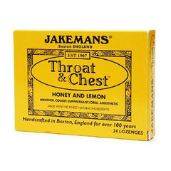 Jakemans Jakemans - Throat and Chest - Honey and Lemon - 24 Lozenges