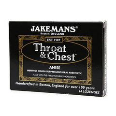 Jakemans Jakemans - Throat and Chest - Anise - 24 Lozenges