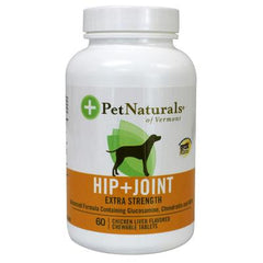 Pet Naturals of Vermont Hip and Joint Extra Strength for Dogs Chicken Liver - 60 Chewable Tablets