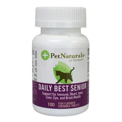 Pet Naturals of Vermont Daily Best Senior for Cats Fish - 100 Chewable Tablets