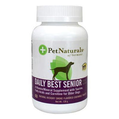 Pet Naturals of Vermont Daily Best Senior Multi-vitamin For Dogs Natural Hickory Smoke - 60 Chewables