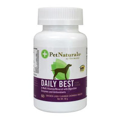 Pet Naturals of Vermont Daily Best Multivitamin For Dogs and Puppies Chicken Liver - 60 Chewable Tablets