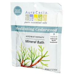Aura Cacia Aromatherapy Mineral Bath Meditation - 2.5 oz - Case of 6