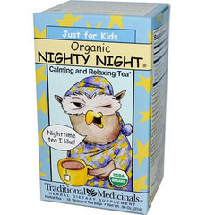 Traditional Medicinals Just for Kids Organic Nighty Night Herbal Tea - 18 Tea Bags - Case of 6