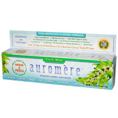 Auromere Herbal Toothpaste Fresh Mint - 4 oz - Case of 12