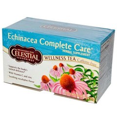 Celestial Seasonings Echinacea Complete Care Wellness Tea Caffeine Free - 20 Tea Bags - Case of 6