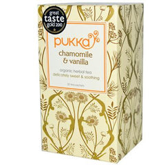 Pukka Herbal Teas Organic Herbal Tea - Chamomile and Vanilla - Caffeine Free - 20 Bags