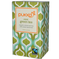 Pukka Herbal Teas Mint Green Tea - 20 Bags