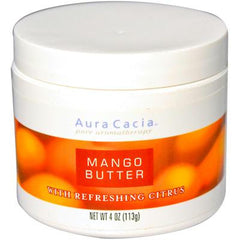 Aura Cacia Body Butter Mango Butter with Refreshing Citrus - 4 fl oz
