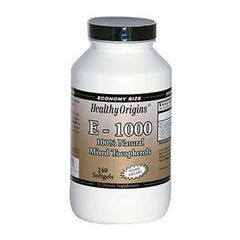 Healthy Origins E-1000 - 1000 IU - 240 Softgels