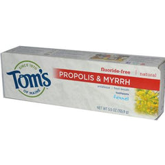Tom's of Maine Propolis and Myrrh Toothpaste Fennel - 5.5 oz - Case of 6