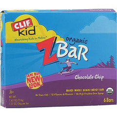 Clif Kid Organic ZBar Chocolate Chip - 6 Bars - Case of 6