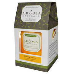 Aroma Naturals Naturally Blended Pillar Candle - Relaxing Lavender and Tangerine 3 inches x 3.5 inches