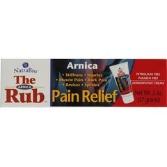 NatraBio The Arnica Rub Pain Relief Cream - 2 oz