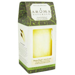 Aroma Naturals Pillar Candle - Peace White - 2.5 inches x 4 inches