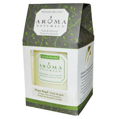 Aroma Naturals Naturally Blended Pillar Candle - Peace Pearl Orange Clove and Cinnamon 3 inches x 3.5 inches