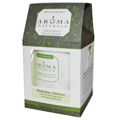 Aroma Naturals Naturally Blended Pillar Candle - Meditation Patchouli and Frankincense - 3 inches x 3.5 inches