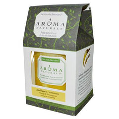 Aroma Naturals Naturally Blended Pillar Candle - Ambiance Orange and Lemongrass 3 inches x 3.5 inches