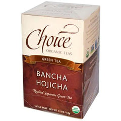 Choice Organic Teas Organic Ban-Cha Toasted Green Tea - 16 Tea Bags - Case of 6