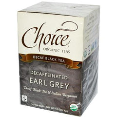 Choice Organic Teas Organic Decaffeinated Earl Grey Tea - 16 Tea Bags - Case of 6