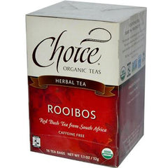 Choice Organic Teas Organic Rooibos Red Bush Tea - 16 Tea Bags - Case of 6