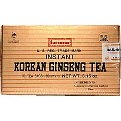 Superior Instant Korean Ginseng Tea - 30 Tea Bags