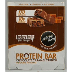 Designer Whey Protein Bars Chocolate Caramel Crunch - 12 Bars