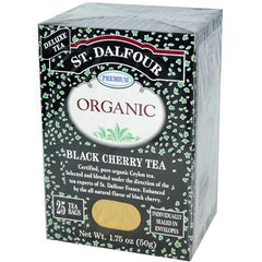 St. Dalfour Organic Tea Black Cherry - 25 Tea Bags - Case of 6