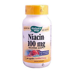 Nature's Way Niacin - 100 mg - 100 Capsules