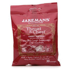 Jakemans Lozenge Thrt and Chest Cherry - Case of 12 - 30 Pack