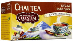Celestial Seasonings Chai Original India Decaf - Case of 6 - 20 Bags