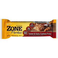 Zone Bar - Cashew Pretzle Sweet and Salty - Case of 12 - 1.58 oz