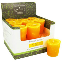 Aroma Naturals Votive Candle - Relaxing Tang - Case of 18