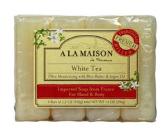 A La Maison Bar Soap - White Tea - Value 4 Pack