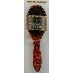Earth Therapeutics Regular Natural Bristle Cushion Brush with Leopard Design - 1 Brush