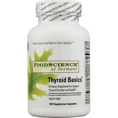FoodScience of Vermont Thyroid Basics - 120 Vegetarian Capsules