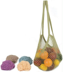EcoBags Classic String Bag Assorted Pastels - Long Handle - 10 Bags