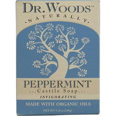 Dr. Woods Naturallly Castile Bar Soap Peppermint - 5.25 oz