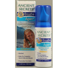 Ancient Secrets Breath Again Children's Hypertonic Seawater Nasal Spray - 3.38 fl oz
