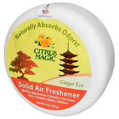Citrus Magic Solid Air Freshener - Ginger Tea - Case of 6 - 8 oz